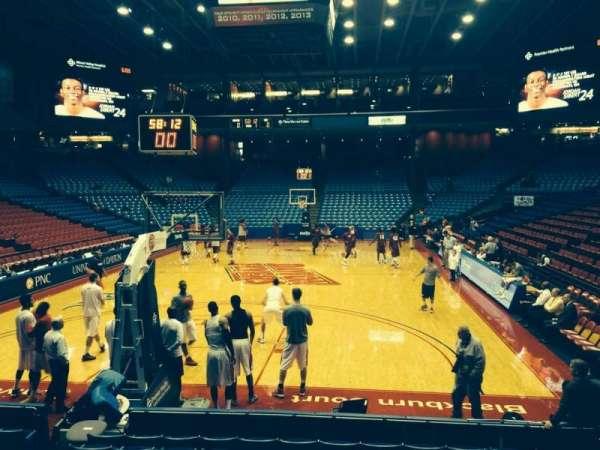 University Of Dayton Arena, secção: 108, fila: i, lugar: 10