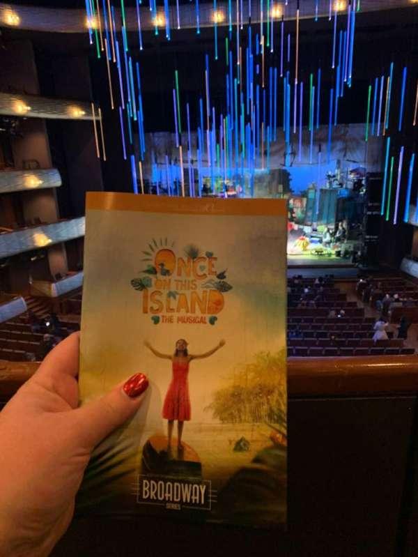 Winspear Opera House, secção: Mezzanine Center, fila: A, lugar: 32