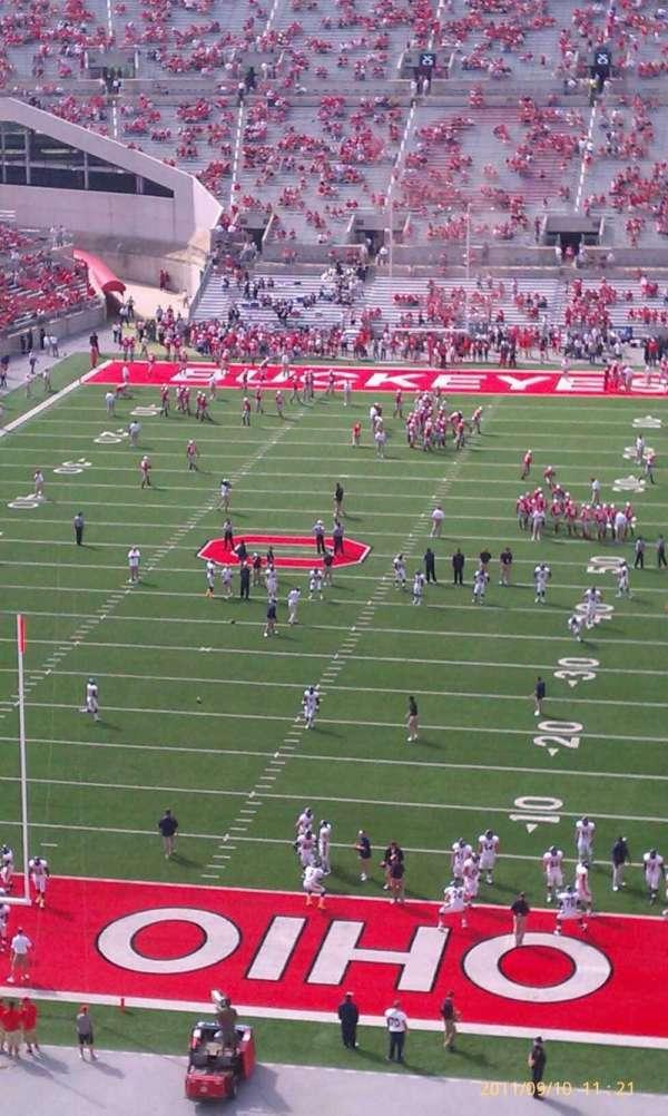 Ohio Stadium, secção: 3c, fila: 18, lugar: 34