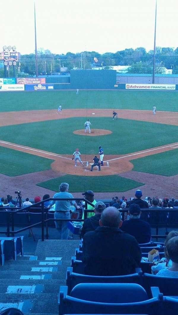 Herschel Greer Stadium, secção: MM, fila: 11, lugar: 1
