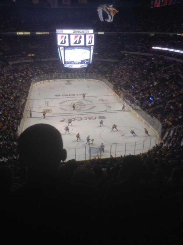 Bridgestone Arena, secção: 317, fila: M, lugar: 13