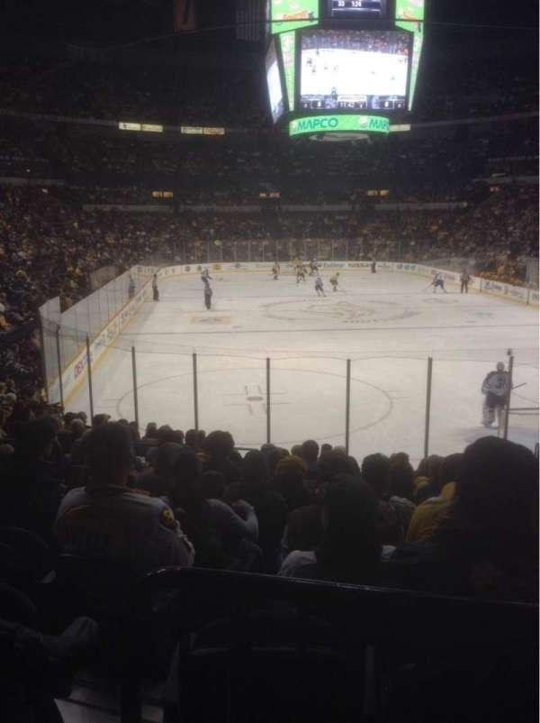 Bridgestone Arena, secção: 110, fila: D, lugar: 9