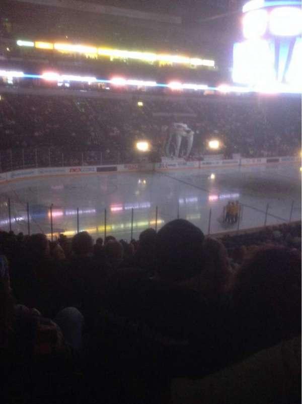 Bridgestone Arena, secção: 103, fila: P, lugar: 13