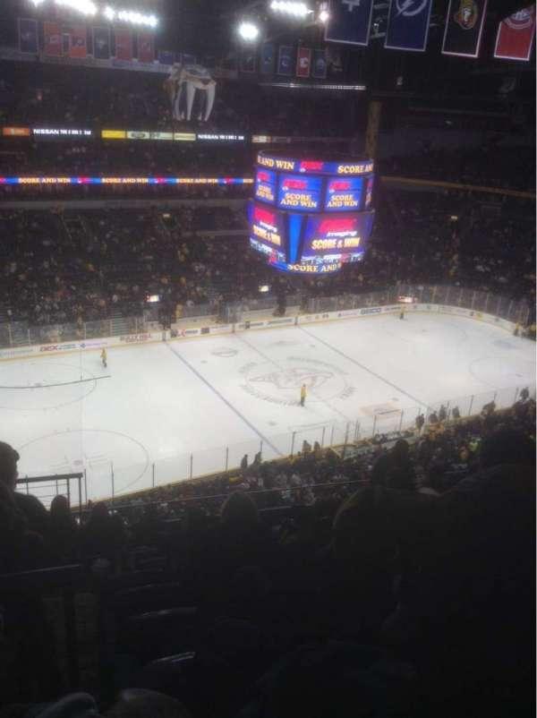Bridgestone Arena, secção: 307, fila: J, lugar: 13
