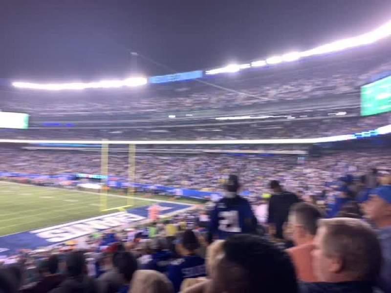 MetLife Stadium, secção: 104, fila: 38, lugar: 16