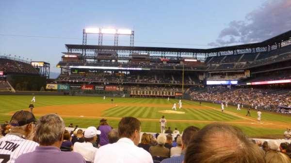 Coors Field, secção: 137, fila: 19, lugar: 10