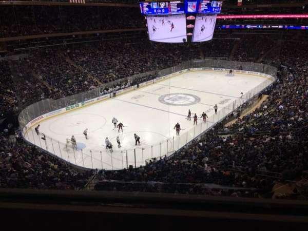 Madison Square Garden, secção: 419, fila: 1, lugar: 16