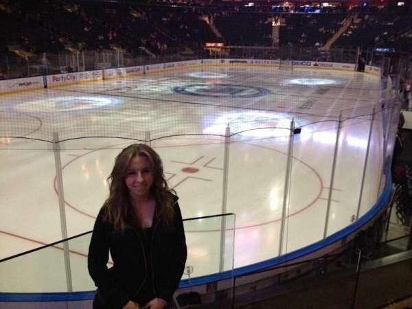 Madison Square Garden, secção: 103, fila: 14, lugar: 16
