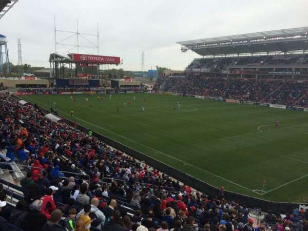 SeatGeek Stadium, secção: 123, fila: 25, lugar: 10