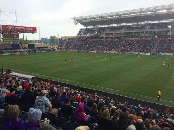SeatGeek Stadium, secção: 125, fila: 20, lugar: 1