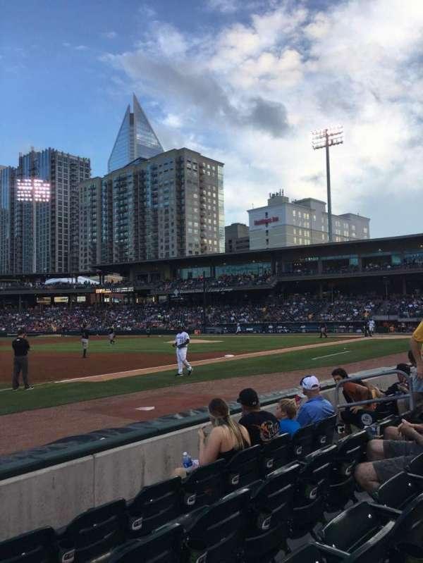 BB&T Ballpark (Charlotte), secção: 118, fila: E, lugar: 11