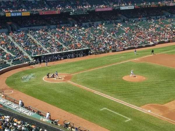 Oriole Park at Camden Yards, secção: 316, fila: 1, lugar: 1