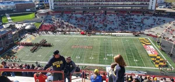 Maryland Stadium, secção: 308, fila: Z, lugar: 2