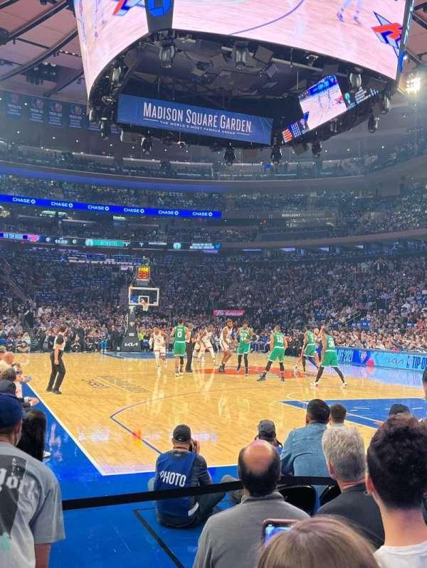 Madison Square Garden, secção: 1, fila: 4, lugar: 4