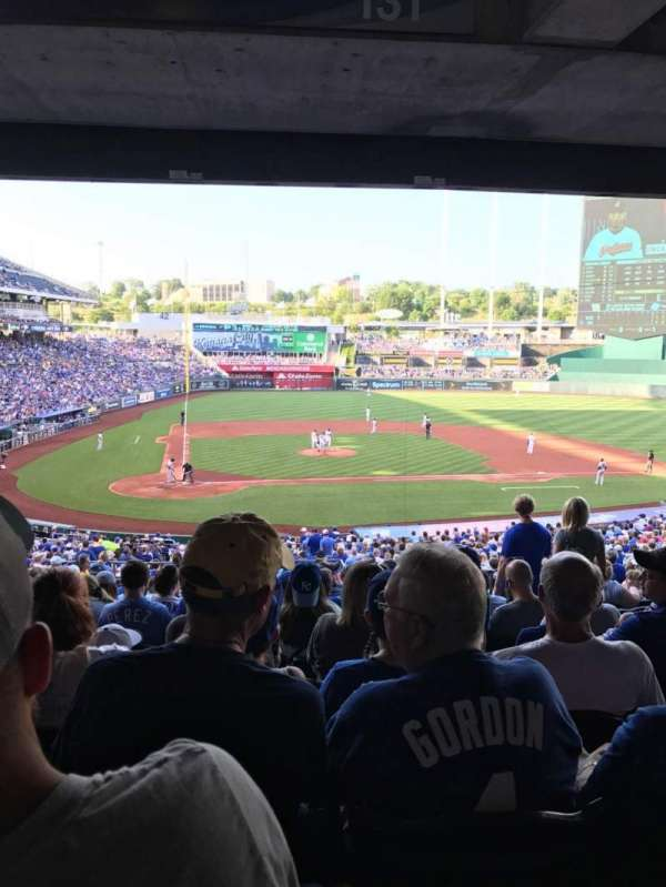 Kauffman Stadium, secção: 231, fila: PP, lugar: 7