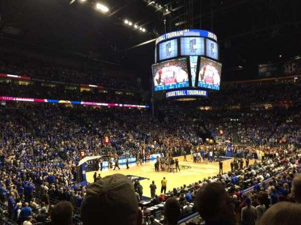 Bridgestone Arena, secção: 103, fila: D