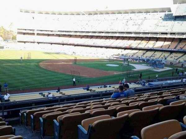 Dodger Stadium, secção: 151LG, fila: H, lugar: 1