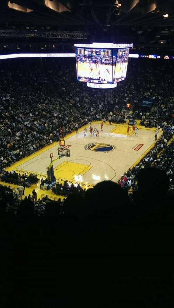 Oracle Arena, secção: 205, fila: 8, lugar: 13