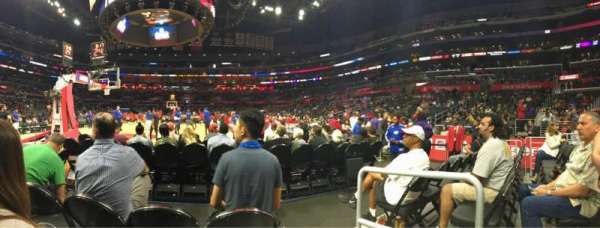 Staples Center, secção: 106, fila: D, lugar: 1