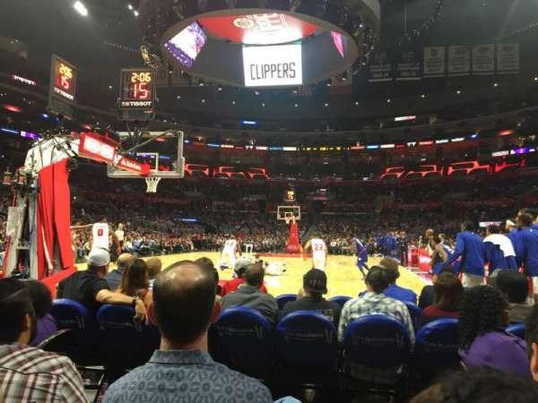 Staples Center, secção: 106 Baseline, fila: D, lugar: 1