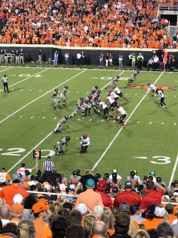 Boone Pickens Stadium, secção: 207, fila: 25, lugar: 6