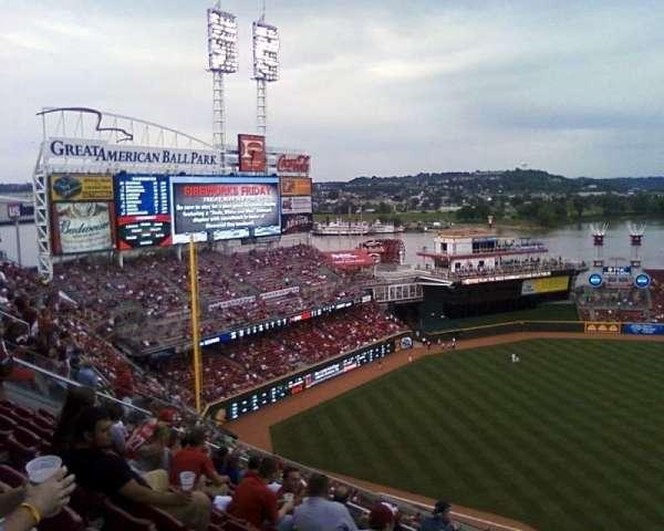 Great American Ball Park, secção: 516, fila: 1, lugar: 4