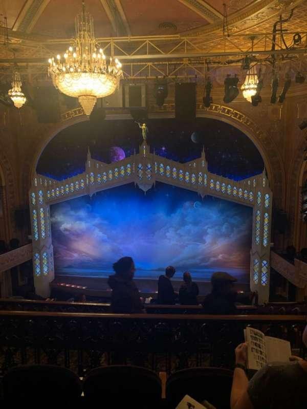 Eugene O'Neill Theatre, secção: Mezzanine C, fila: H, lugar: 110