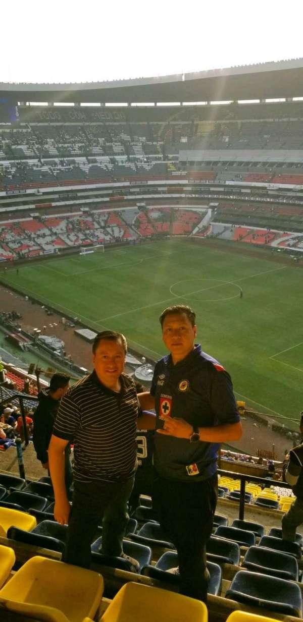 Estadio Azteca, secção: 552, fila: j, lugar: 20