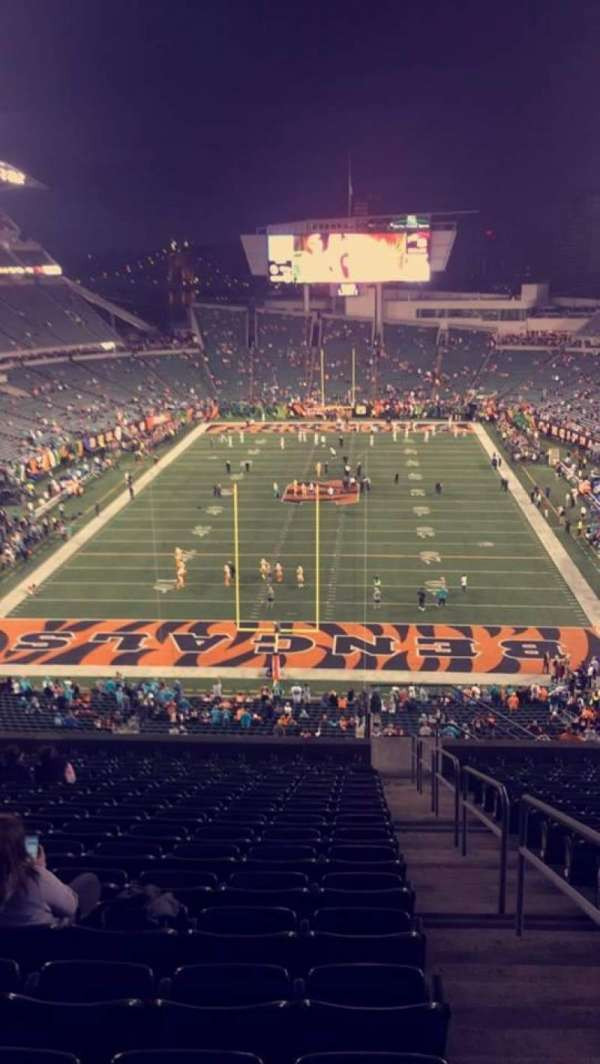 Paul Brown Stadium, secção: 226, fila: 30, lugar: 1