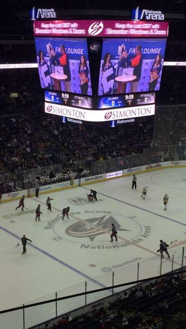 Nationwide Arena, secção: 219, fila: B, lugar: 24