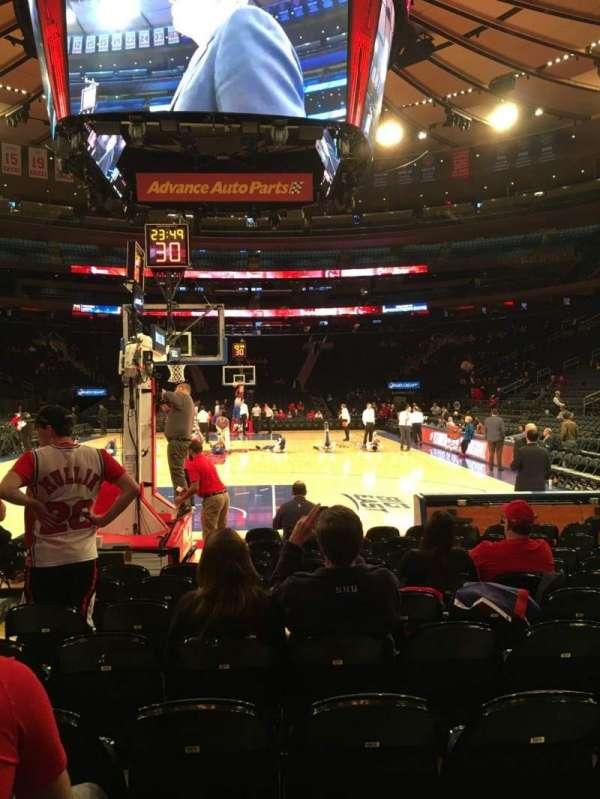 Madison Square Garden, secção: 2, fila: 9, lugar: 15