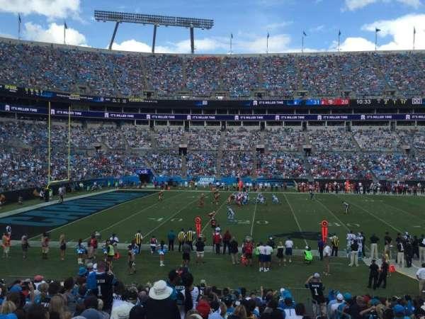 Bank of America Stadium, secção: 134, fila: 19, lugar: 2