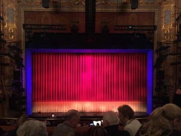 Longacre Theatre, secção: Mezzanine Center, fila: D, lugar: 107