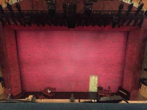 Shubert Theatre, secção: Balcony Center, fila: A, lugar: 107