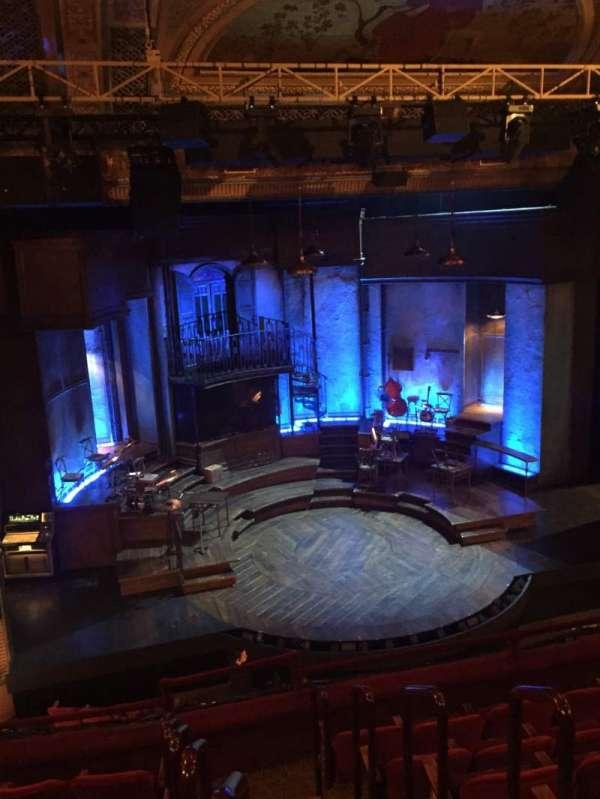 Walter Kerr Theatre, secção: Mezzanine Left, fila: G, lugar: 1