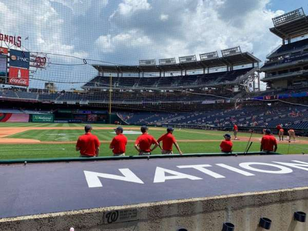 Nationals Park, secção: 116, fila: F, lugar: 7