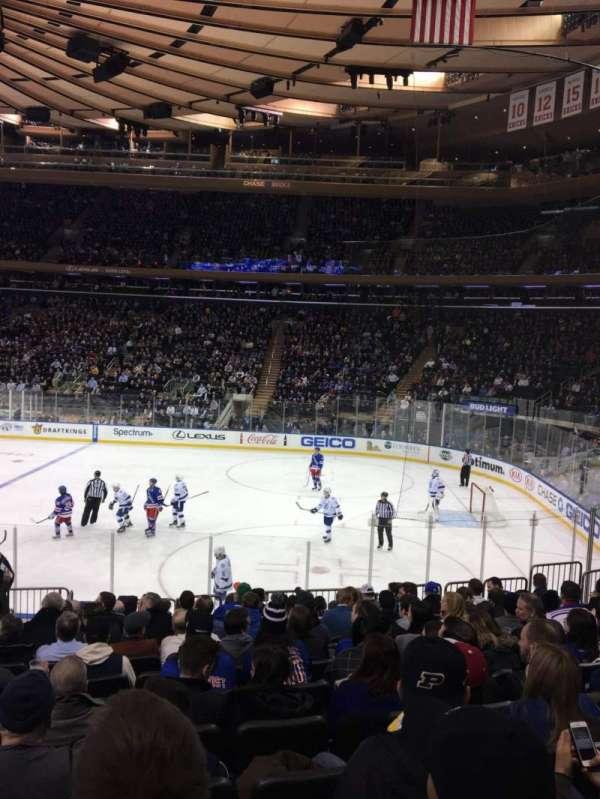 Madison Square Garden, secção: 109, fila: 14, lugar: 6