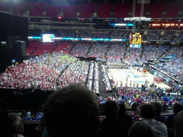 Georgia Dome, secção: 245, fila: 5, lugar: 4