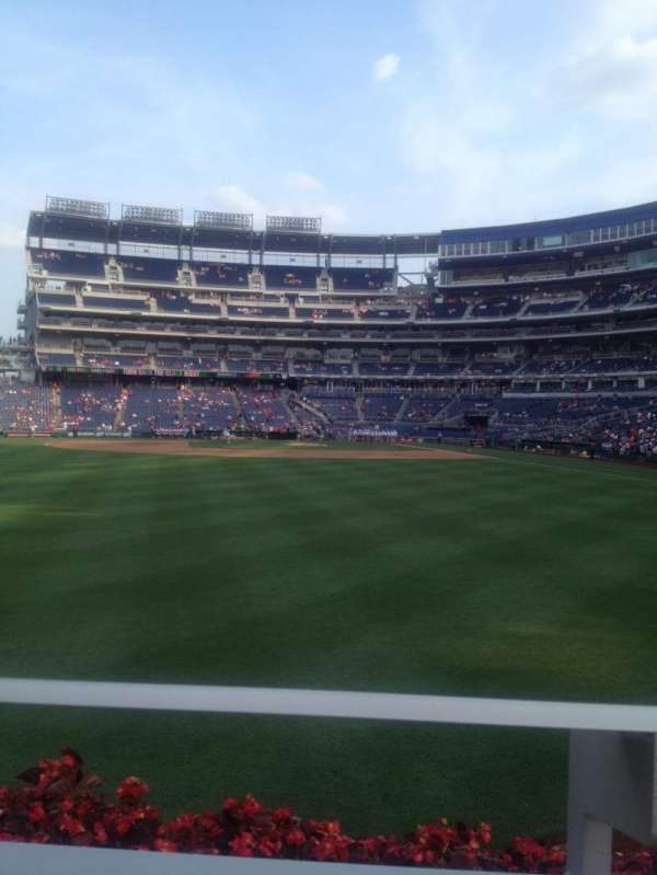 Nationals Park, secção: 103, fila: A