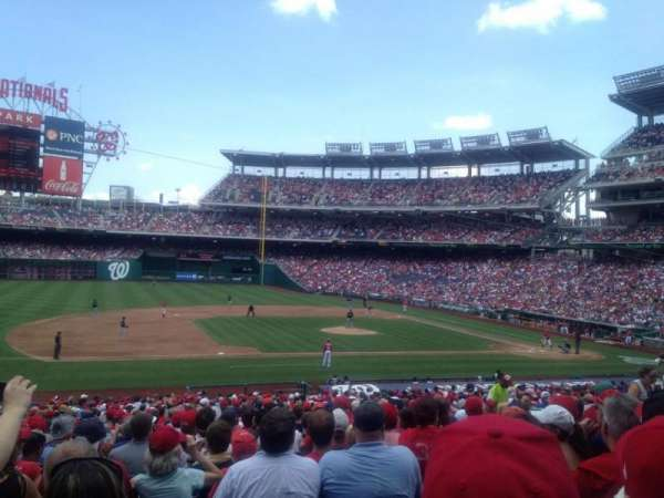 Nationals Park, secção: 115, fila: LL, lugar: 15