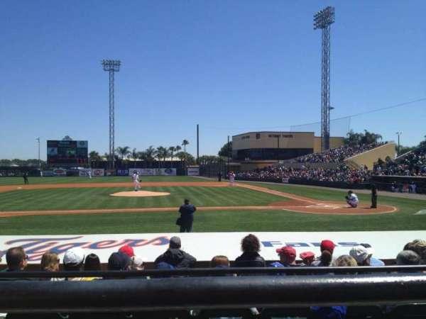 Joker Marchant Stadium, secção: 210, fila: A, lugar: 8