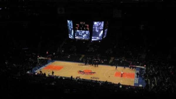 Madison Square Garden, secção: 412, fila: e, lugar: 1