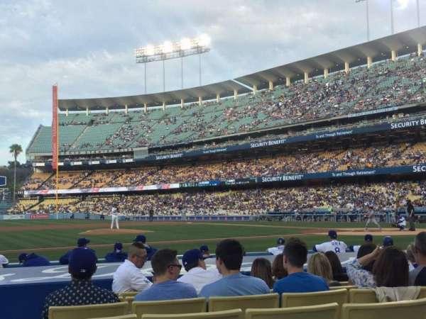Dodger Stadium, secção: 21FD, fila: B, lugar: 3
