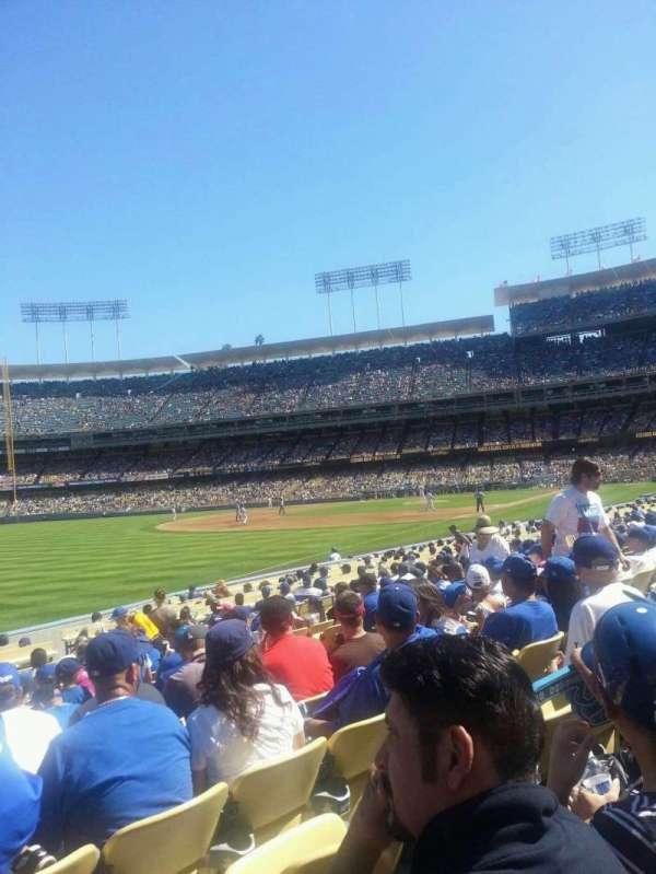 Dodger Stadium, secção: 45FD, fila: M, lugar: 11