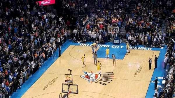 Chesapeake Energy Arena, secção: 330, fila: P, lugar: 6