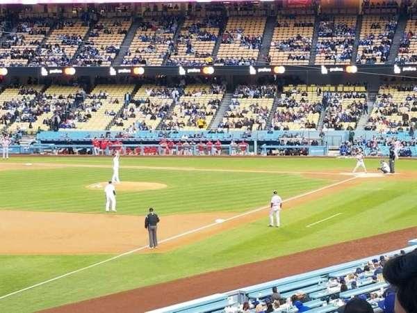 Dodger Stadium, secção: 157LG, fila: G, lugar: 17