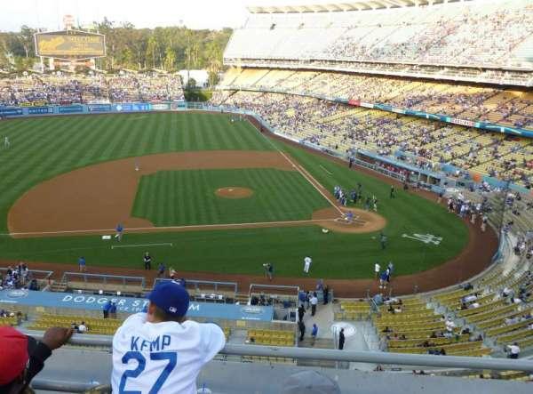 Dodger Stadium, secção: 15RS, fila: C, lugar: 7