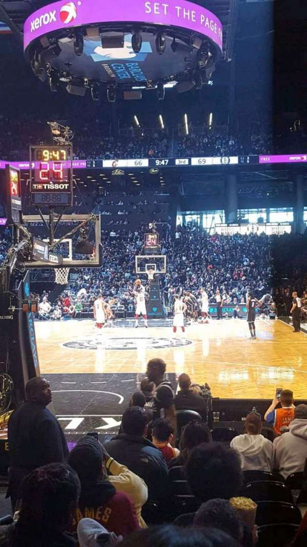 Barclays Center, secção: 16, fila: 5, lugar: 4