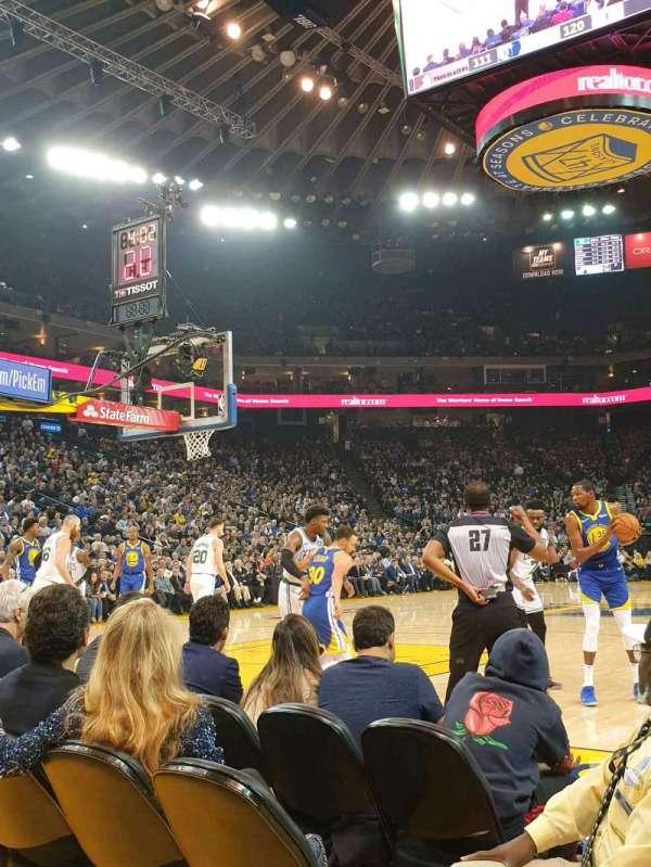 Oakland Arena, secção: 5, fila: A2, lugar: 7
