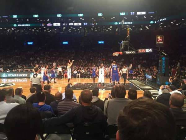 Barclays Center, secção: 23, fila: 2, lugar: 7